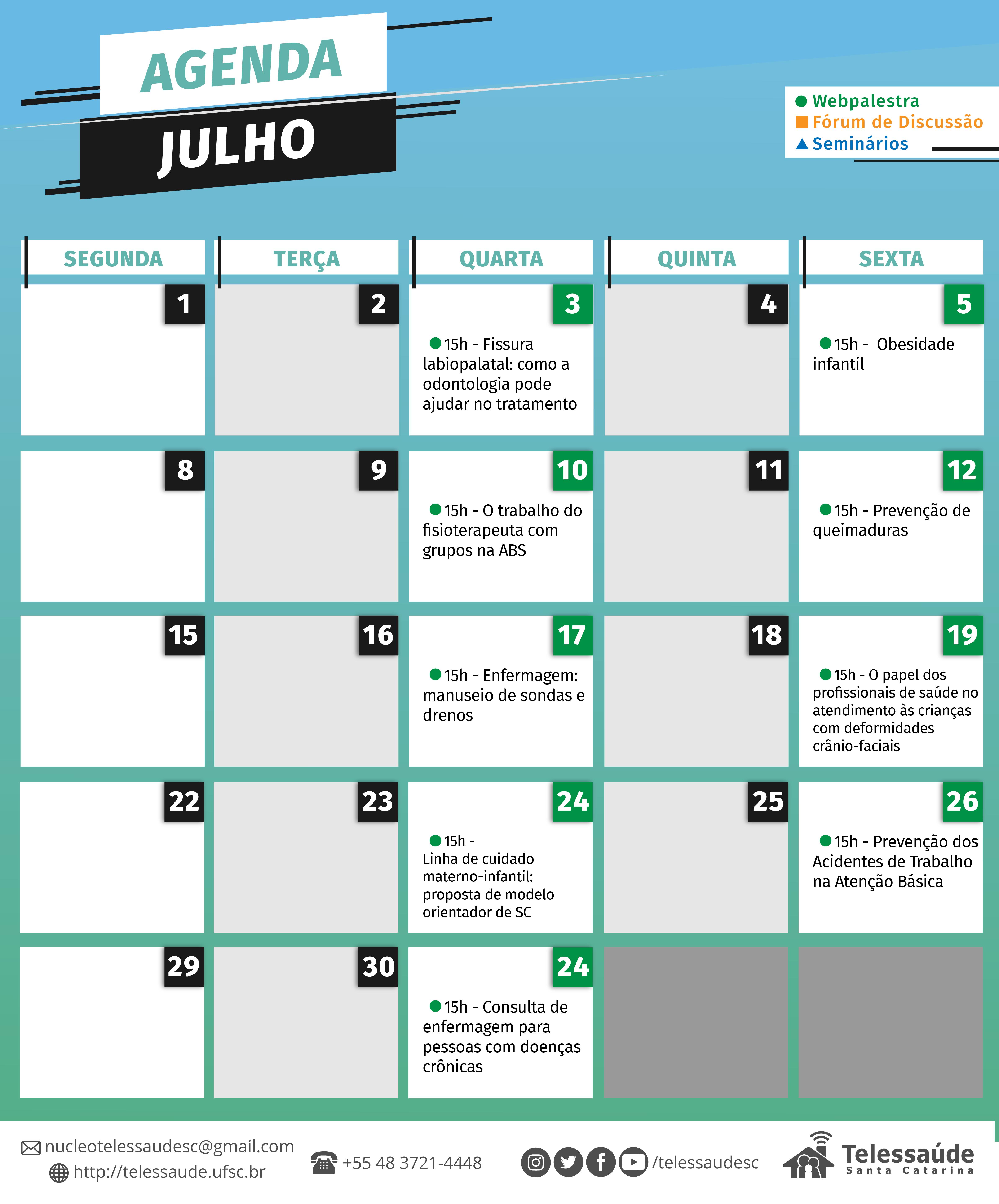 O Telessaúde Sc Vem Com Tudo Em Julho Confira Agenda Deste Mês